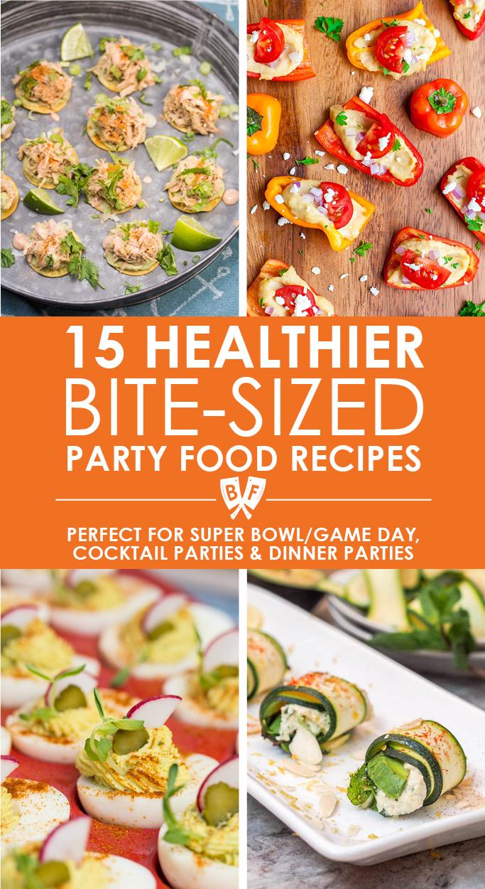 Assortment of 4 healthier appetizer food options.