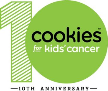 Cookies for Kids' Cancer 10th Anniversary Logo