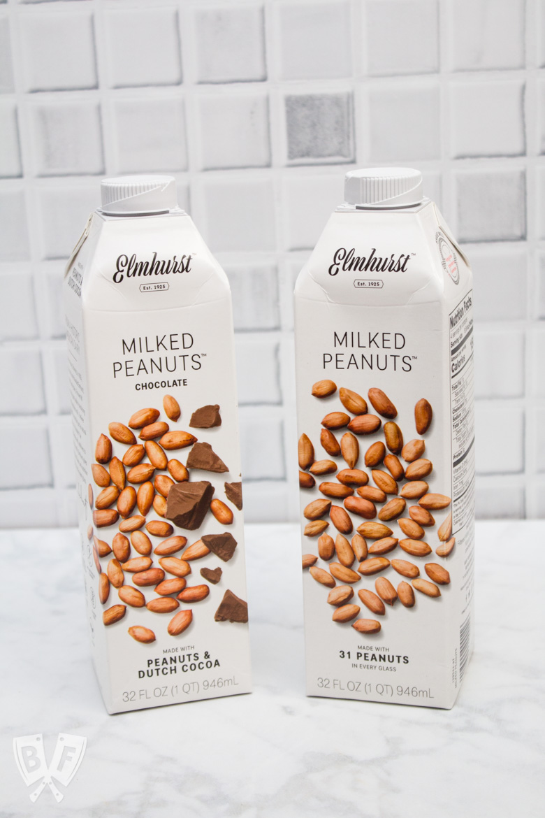 2 cartons of milked peanuts - one regular and one chocolate.