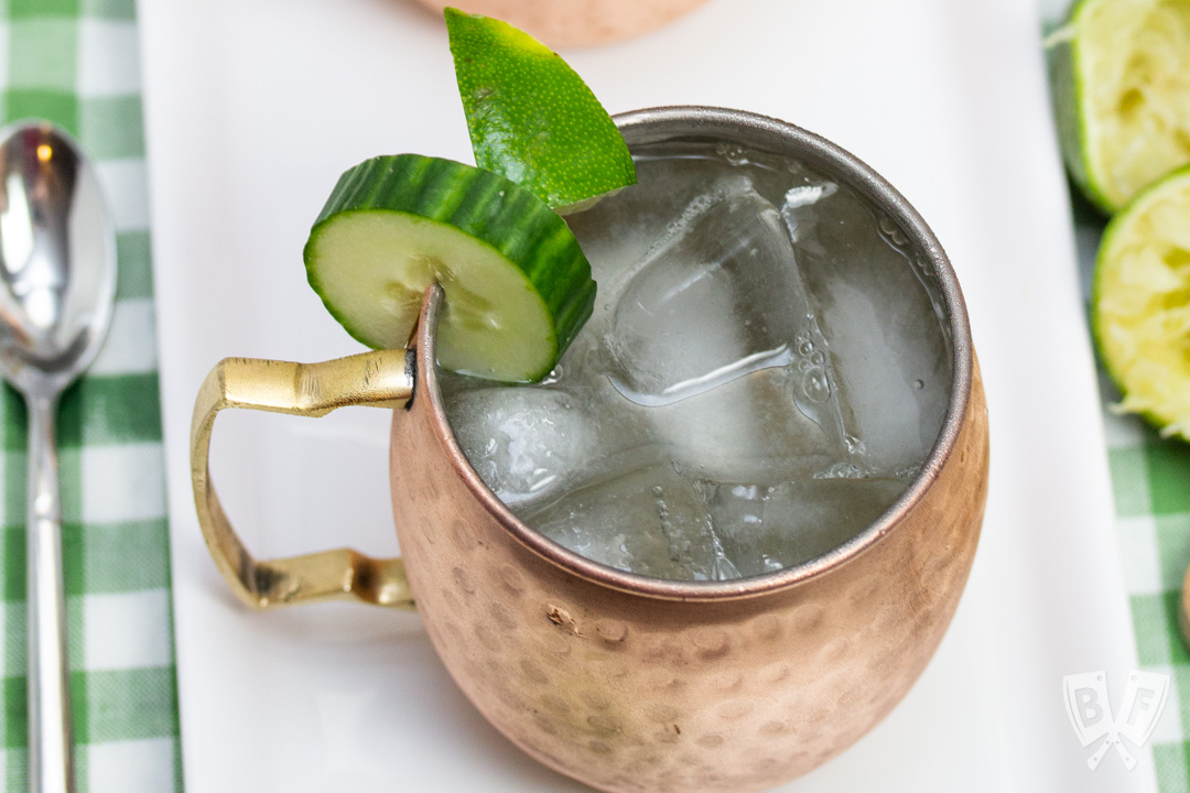 Cucumber Moscow Mule Cocktail Recipe Big Flavors From A Tiny Kitchen