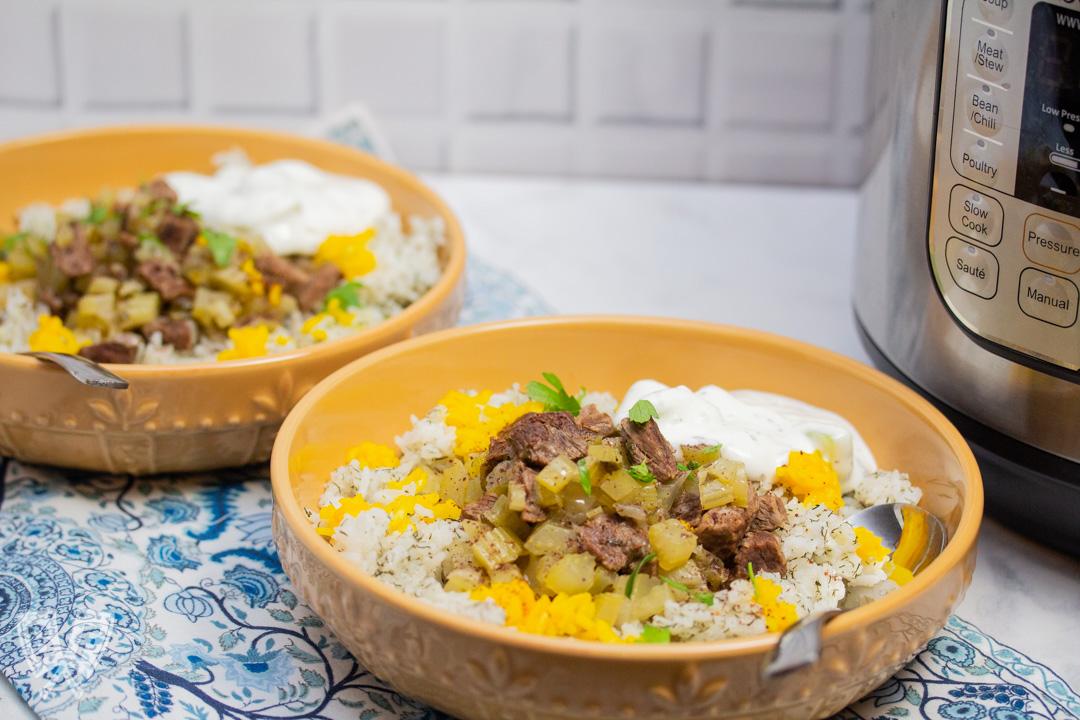 Instant Pot Persian Beef and Celery Stew (Khoreshe Karafs)