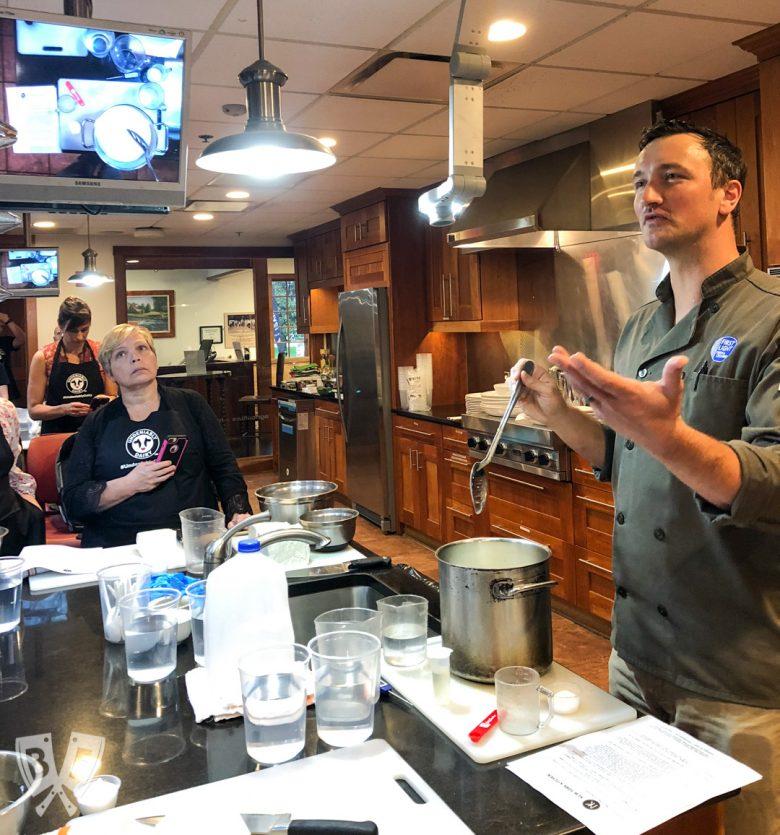 Cheesemaking demonstration at New York Kitchen.