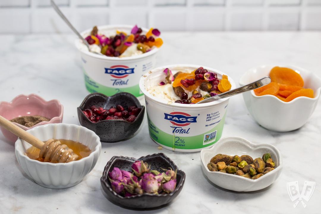 Persian Jeweled Yogurt Parfaits