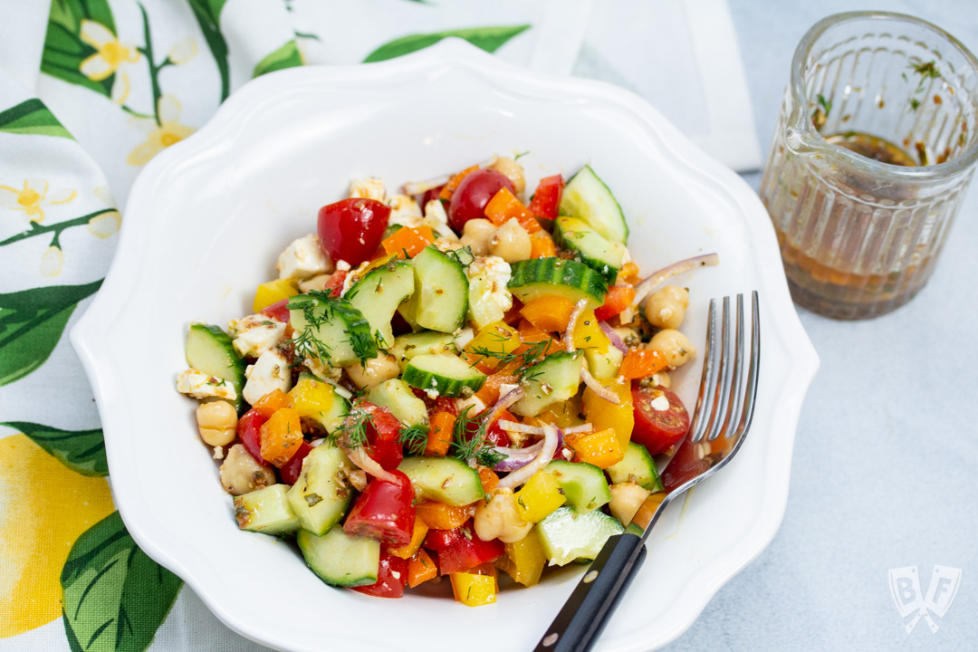 Mediterranean Chickpea Salad with Lemon-Herb Vinaigrette