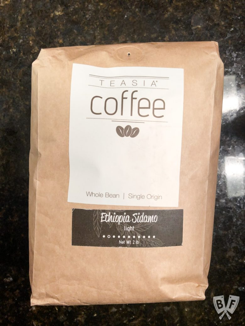 A bag of Ethiopian coffee beans for making easy homemade cold brew coffee
