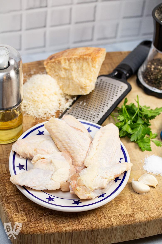 Ingredients for Air Fryer Garlic Parmesan Chicken Wings