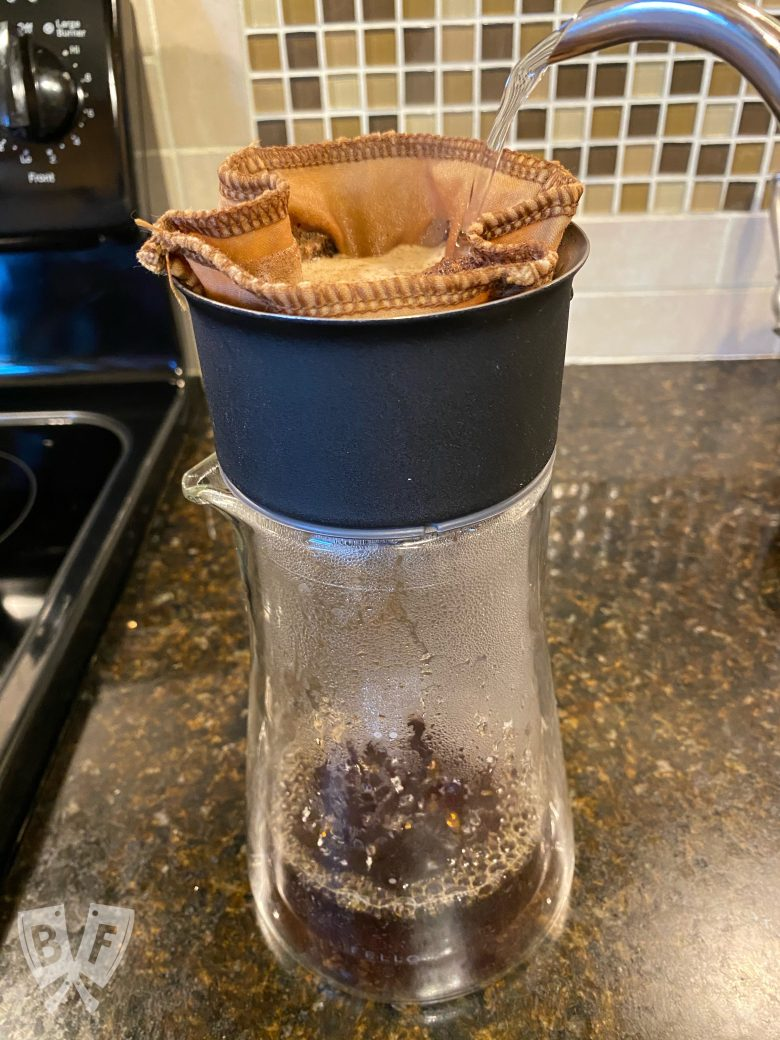 Pourover coffee home setup