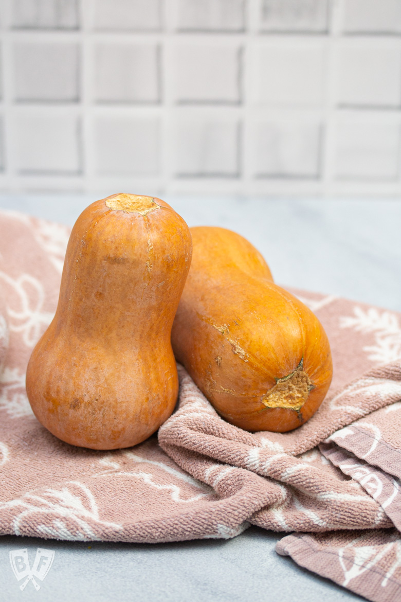 Two whole honeynut squash