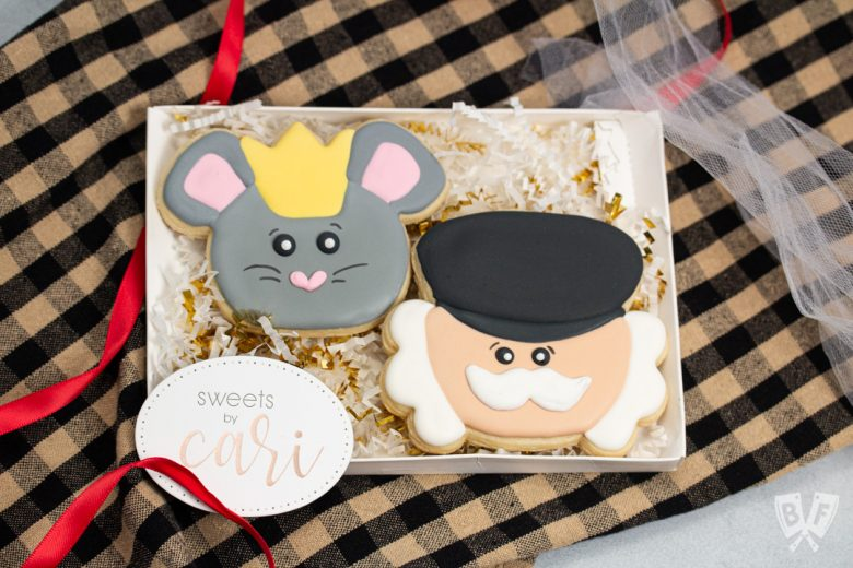 Handmade mouse and nutcracker cookies