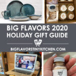 Collage of small business gifts for the Big Flavors 2020 holiday gift guide.