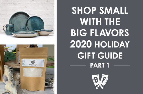 Ceramic dishes and hand made sea salt are small businesses as part of the Big Flavors 2020 shop small gift guide.